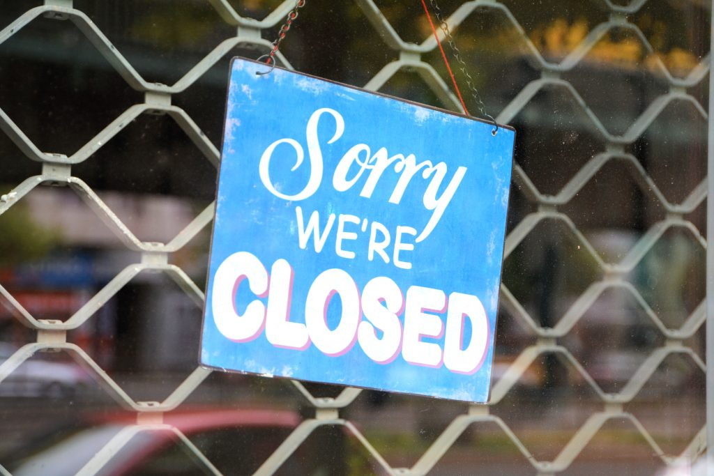 Sorry we're closed. Foto: Colourbox.de