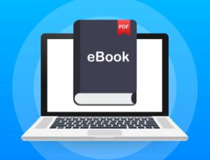 Laptop mit eBook
